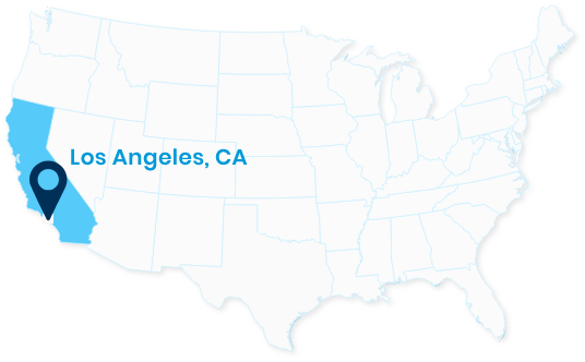 Los Angeles, California Map
